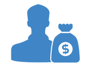 Man With Money Bag Icon